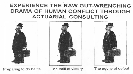 Experience the raw, gut-wrenching drama of human conflict through actuarial consulting